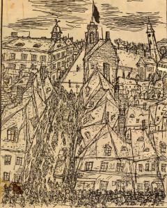 Theresienstadt, Zeichnung von Bedrich Fritta, ca. 1942 (25.11.2016)